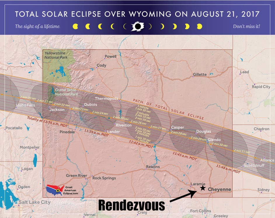 Rendezvous Solar Eclipse